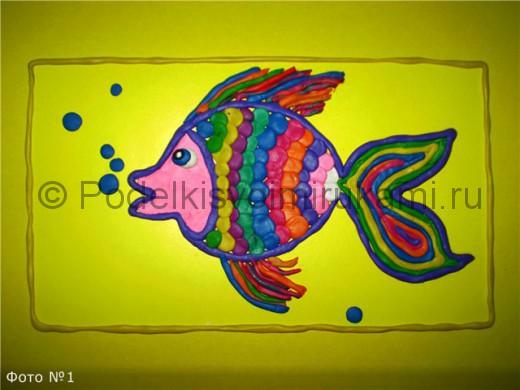 Рыбка из пластилина. Итоговый вид поделки.