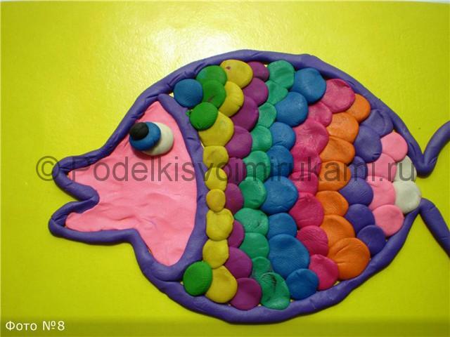 Рыбка из пластилина. Пошаговый мастер-класс. Шаг №7.
