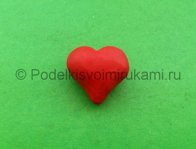 Сердце из пластилина. Шаг №6.