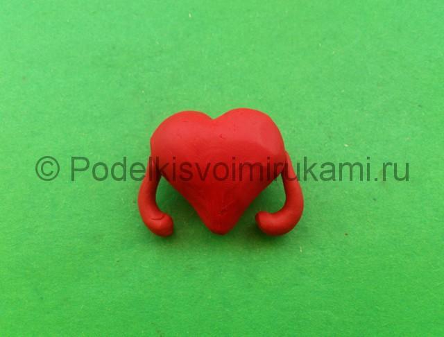 Сердце из пластилина. Шаг №7.