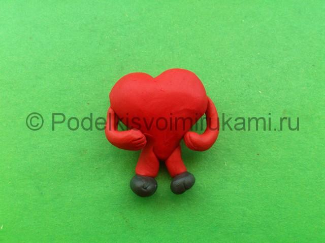 Сердце из пластилина. Шаг №8.