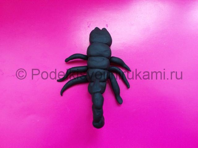 Скорпион из пластилина. Шаг №9.