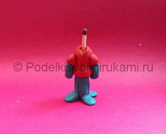 Сквидвард из пластилина. Пошаговый мастер-класс. Шаг №11.