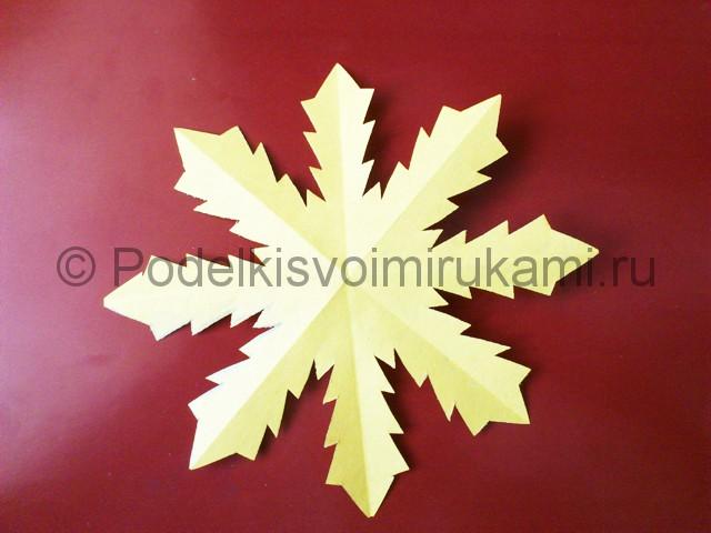 Снежинка из бумаги с дождиком. Шаг №6.