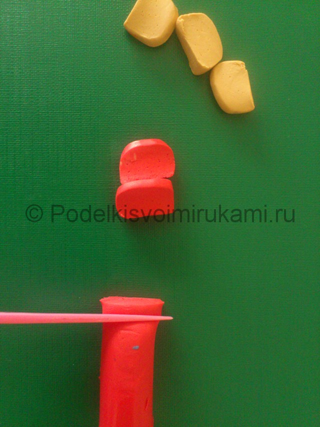 Торт из пластилина. Пошаговый мастер-класс. Фото №3.