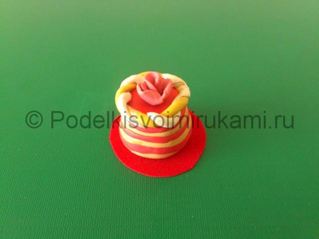 Торт из пластилина. Пошаговый мастер-класс. Фото №9.