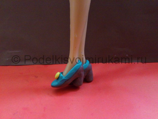 Туфли из пластилина. Итоговый вид поделки.
