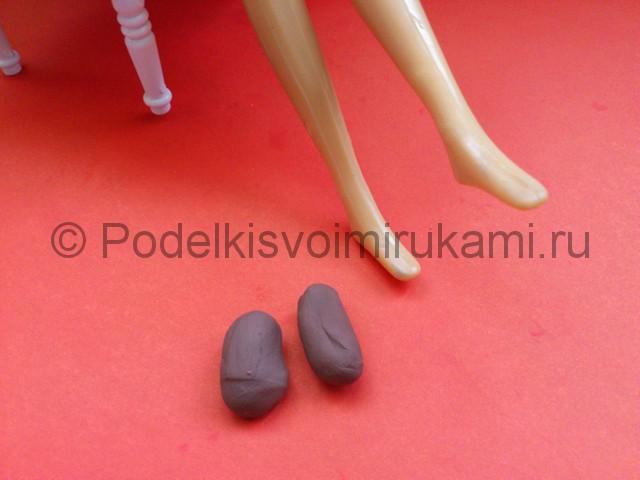 Туфли из пластилина. Урок лепки. Шаг №2.