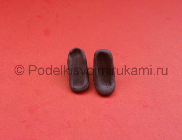 Туфли из пластилина. Урок лепки. Шаг №4.