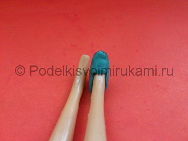 Туфли из пластилина. Урок лепки. Шаг №5.
