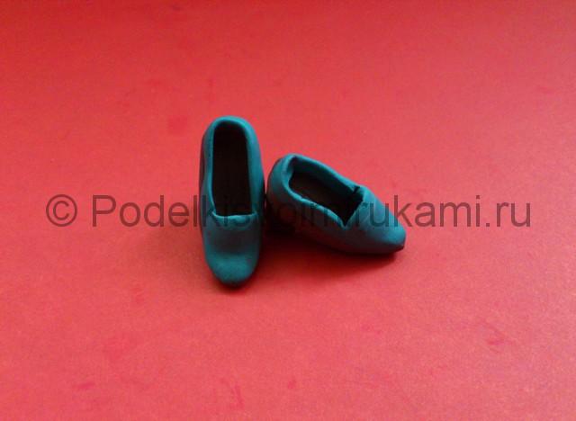 Туфли из пластилина. Урок лепки. Шаг №6.