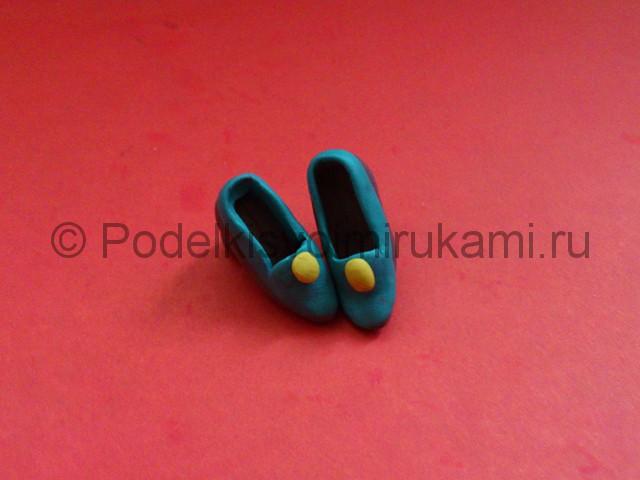 Туфли из пластилина. Урок лепки. Шаг №7.