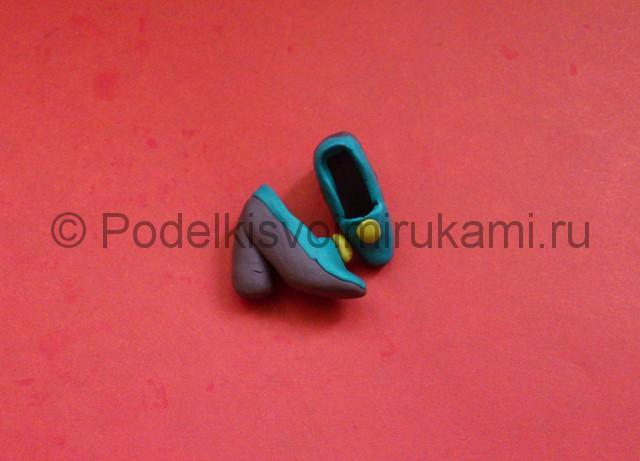 Туфли из пластилина. Итоговый вид поделки. Фото 1.