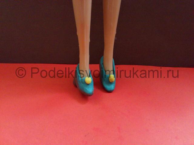 Туфли из пластилина. Итоговый вид поделки. Фото 2.