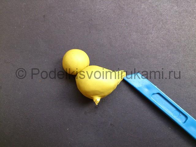 Утка из пластилина. Пошаговый урок лепки. Шаг №4.