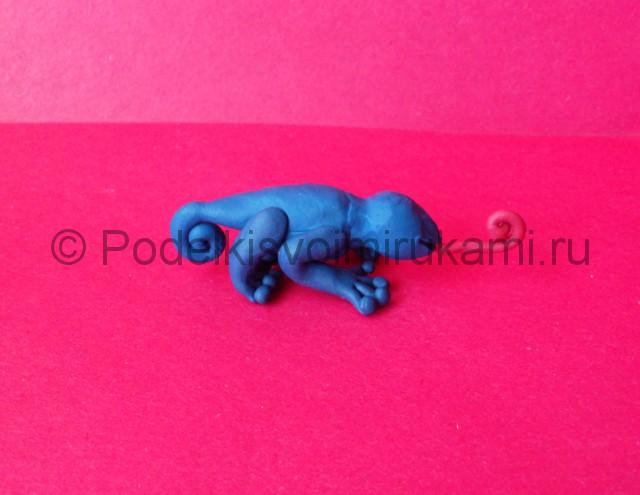 Хамелеон из пластилина. Шаг №7.