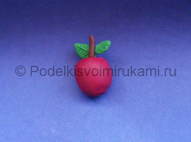 Яблоко из пластилина. Итоговый вид поделки. Фото 1.