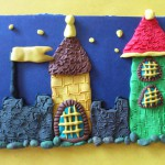 Замок из пластилина. Итоговый вид поделки.