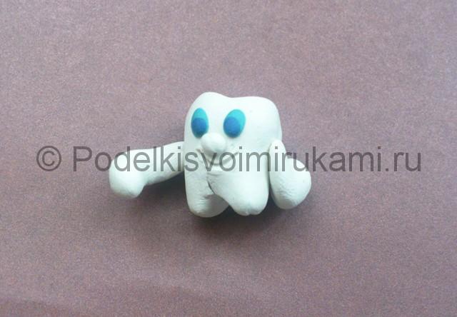Зуб из пластилина. Урок лепки. Шаг №6.