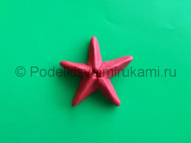 Лепка звезды из пластилина. Шаг №6.