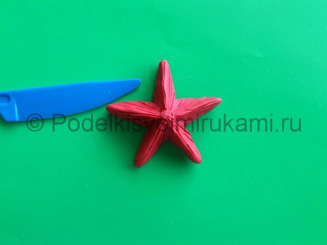 Лепка звезды из пластилина. Шаг №7.