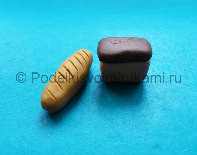 Лепка хлеба из пластилина. Итоговый вид поделки. Фото 2.