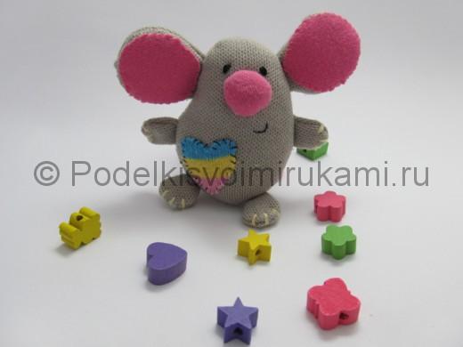 Мышка-очаровашка «Маруся» своими руками. Итоговый вид поделки.