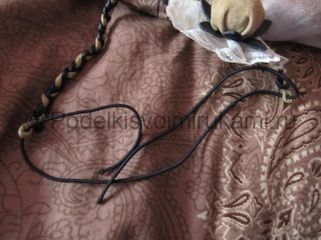 Оригинальное украшение-полоска для волос своими руками. Фото 11.