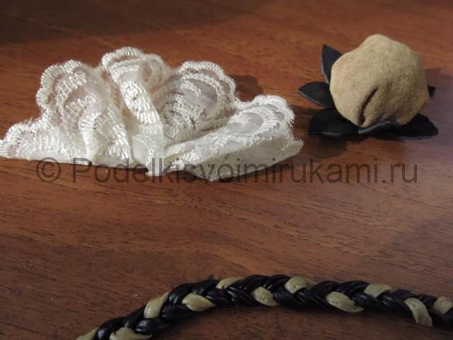 Оригинальное украшение-полоска для волос своими руками. Фото 5.