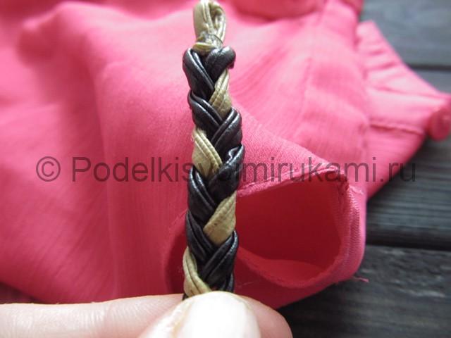 Оригинальное украшение-полоска для волос своими руками. Фото 9.