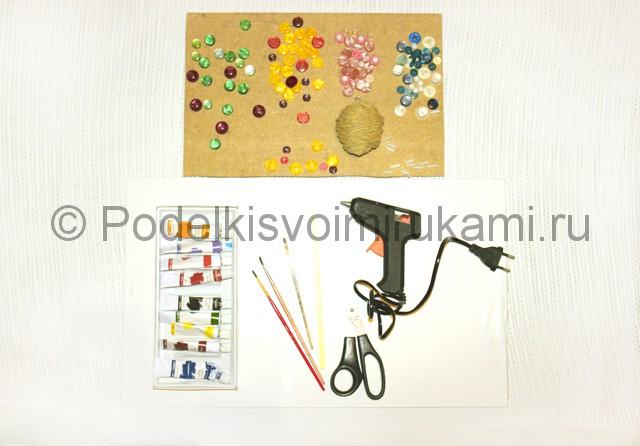 Изготовление декоративного панно из бросового материала. Фото 1.