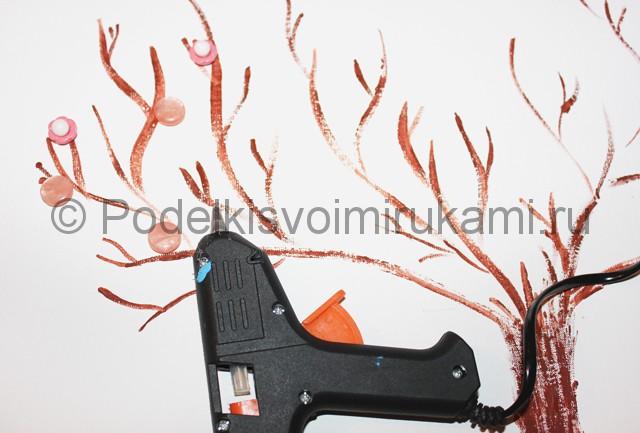 Изготовление декоративного панно из бросового материала. Фото 3.