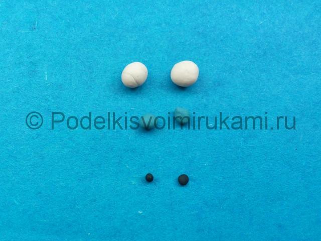 Как сделать глаза из пластилина. Шаг №6.