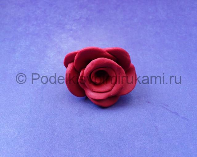 Как сделать розу из пластилина. Шаг №7.
