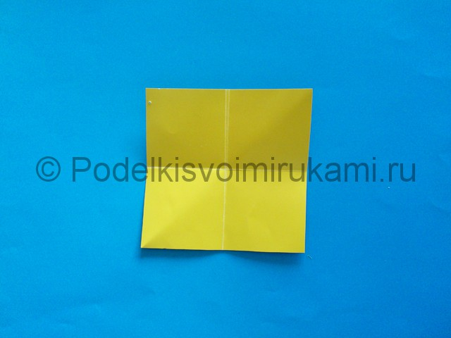 Карандаш из бумаги своими руками в технике оригами. Шаг №5.