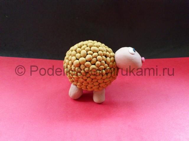 Лепка овечки из пластилина. Шаг №8.
