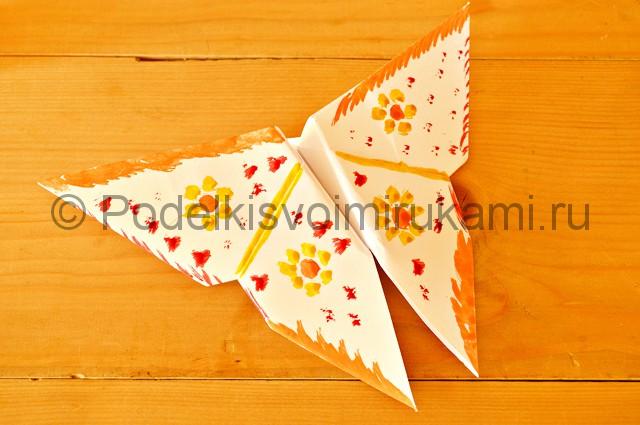 Готовая бабочка из бумаги - фото 1.