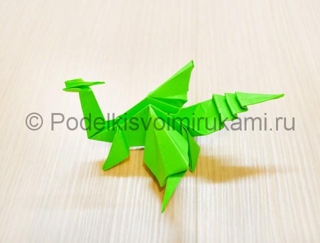 Как сделать дракона из бумаги. Фото 46.