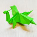 Как сделать дракона из бумаги. Итоговый вид поделки.