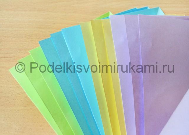 Как сделать фейерверк из бумаги. Фото 1.