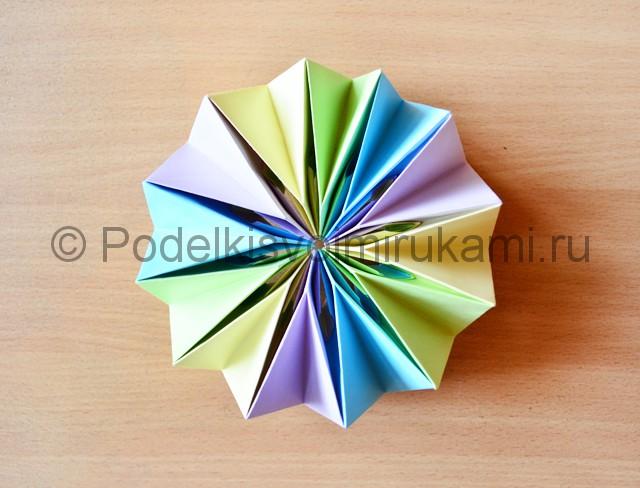 Как сделать фейерверк из бумаги. Итоговый вид поделки. Фото 3.