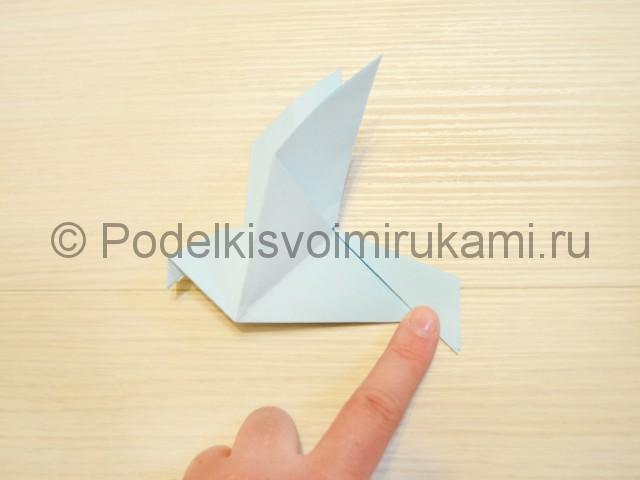 Как сделать голубя из бумаги своими руками поэтапно. Фото 15.
