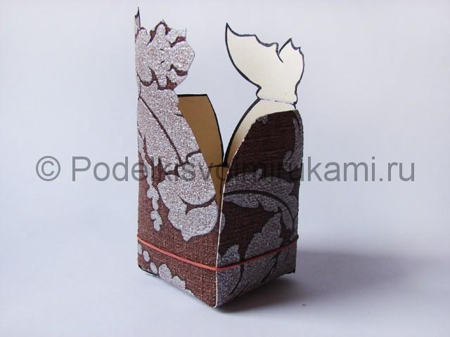 Изготовление коробочки из бумаги своими руками - фото 12.