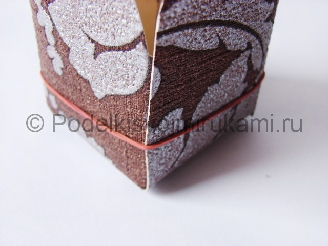 Изготовление коробочки из бумаги своими руками - фото 13.