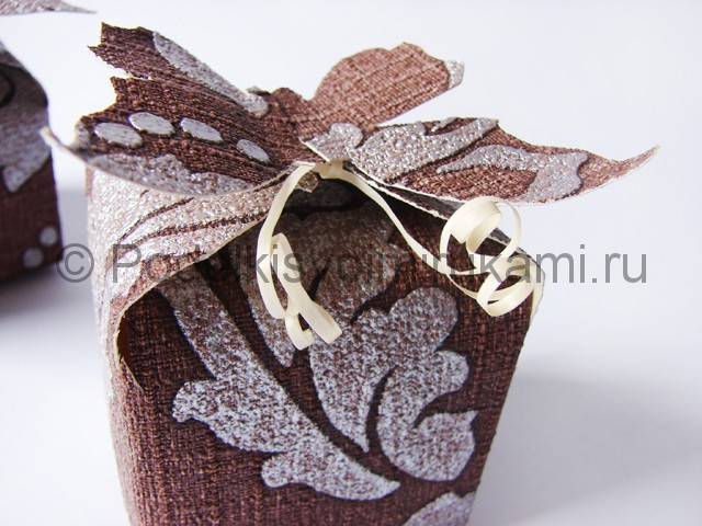 Изготовление коробочки из бумаги своими руками - фото 21.