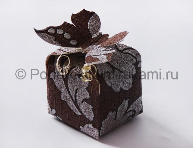 Изготовление коробочки из бумаги своими руками - фото 23.
