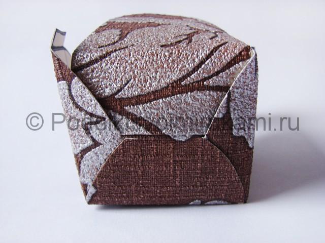 Изготовление коробочки из бумаги своими руками - фото 7.
