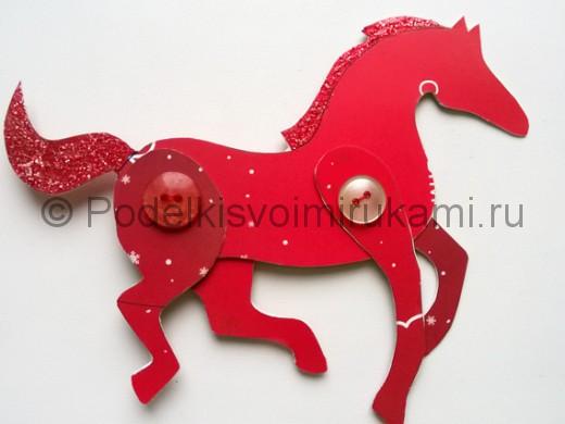 Как сделать лошадь из бумаги. Итоговый вид поделки.
