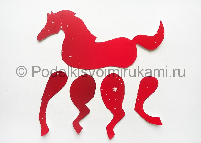 Как сделать лошадь из бумаги. Фото 6.