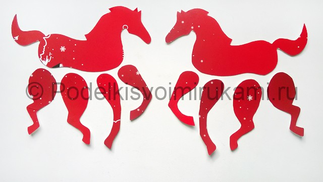 Как сделать лошадь из бумаги. Фото 7.
